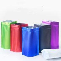الوقوف متعددة الألوان الغذاء الجاف التعبئة الألومنيوم أكياس احباط 100 قطع ماتي حبوب القهوة الفاصوليا الحقيبة بألوان مختلفة