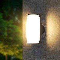 Duvar Lambası Modern LED IP65 Su Geçirmez Kapalı Açık Alüminyum Işık Yüzey Monte Küp Bahçe Sundurma