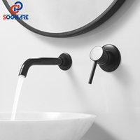 Bathroom Sink Faucets Wall Mounted Wash Basin Faucet And Cold Water Mixer Tap Bath With Single Handle Kitchen Vanity Vessel