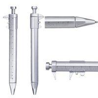 Multifunction Vernier Caliper Ballpoint Roller Ball Pen With Ruler Measuring Tool Stationery Engineer Business Gift KDJK2106