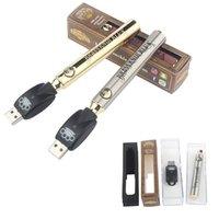 MOQ 2Pcs Brass Knuckles Battery 650mAh 900mAh Gold Wood Slivery Preheat Adjustable Voltage Vape Pen BK Batteries 510 Thread Cartridge