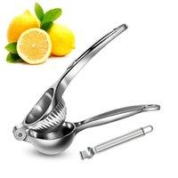 Lmmetjma Lemon Squeezer Manual 304 Aço Inoxidável Lemon Citrus Press Juicer Squeezer com Zester Laranja Citrus Critrus KC0246 210330