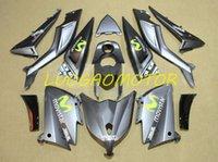 حقن هدية مجانية مخصص هيكل السيارة Fairings Kit ل Yamaha TMAX530 TMAX 530 2012 2013 2014 12 13 14 ABS البلاستيك دراجة نارية هدية مجموعات عالية الجودة رمادي أسود