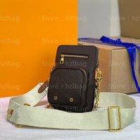 Utility Messenger Bagens D-Ring Цветочная буква пересечения кузова сумка моно холст грамм телефон кармана маленькая камера