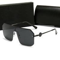 Diseño de alta calidad Gafas de sol Gafas sin marco Ornamental Eyewear Eyewear UV400 Lens Top Calidad Simple Al aire libre Unisex Máscara de gafas de sol