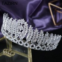 Other Luxury 5A Level Cubic Zirconia Wedding Bridal Tall Tiaras And Crowns CZ Quinceanera Headpieces Women Girls Party Hair Jewelry