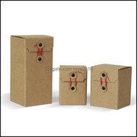 Gift Event Festive Party Supplies Home & Gardengift Wrap 10Pcs Lot- 11 Sizes Retro Kraft Paper Box Honey Jam Candy Handmade Soap Packaging B
