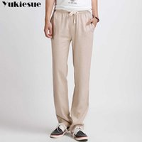spring summer Business Trousers Thin Linen Loose Chinese Style men's pants sweatpants Straight Men streetwear Plus size 210608
