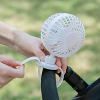 Stroller Parts & Accessories Outdoor USB Rechargeable Fan With Comfortable Wrist Strap Portable Mini Clip Cooling For Outdoors Baby