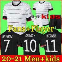 Deutschland Fussball Jersey 2020 2021 Fans Spielerversion Hummels Kroos Gnabry Werner Draxler REUS Müller Gotse European Cup Football Hemd Uniformen Männer + Kids Kit