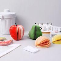 3D-Memo-Pad-Notizblock-Pfosten-Anmerkungs-Pad-Kratzer Papier-Fruchtform Apfelbirne 9 Formen Geschenk 88202221