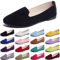 luxury women casual shoes black green loafers Outdoor flat slip on fashion womens trainers sneakers size 36-42 color1