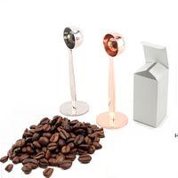 ثنائي الغرض إسبرسو القهوة الفول مسحوق ملعقة قياس سكوب القهوة العبث أداة الفولاذ المقاوم للصدأ القهوة اكسسوارات DHF6218