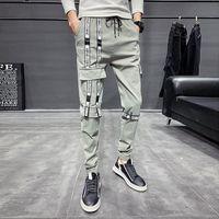 Pantalones para hombres HCXY 2021 PANTALONES DE INVIERNO Y OTOUMN DE INVIERNO Y OTOÑO ESPULAR DE SLIM TENDER DE TENDIENDO MOMBRES