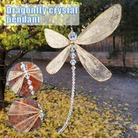 Decorative Objects & Figurines Dragonfly Crystal Suncatcher With Beads Window Hanging Ornament Wedding Cars Decor DO