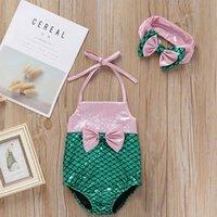 One-Pieces Baby Girls Swimwear Cute Lovely Bow Knot Tankini Bikini Sleeveless Halter Swimsuit 2pcs Set Bathing Suit Beachwear