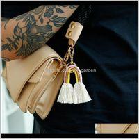 Rings Jewelryfashion Women Boho Rainbow Tassel Keychain Bag Hangs Gold Key Holder Fashion Jewelry Gift Will And Sandy Drop Delivery 2021 Bwq