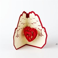 Newest Love in the Hand 3D Pop UP Greeting Card Valentine Da...
