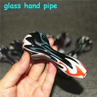 tobacco pipe Hand Pipes pyrex colorful spoon glass water bong Smoking silicone wax pad dabber tool