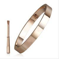 2021 bracelet de luxe de luxe pour femmes amants avec tournevis en acier inoxydable argent rose doré bracelets amitié bracelets