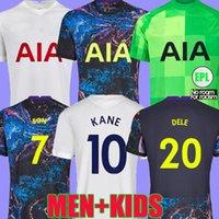 21 22 Kane Son Bergwijn Ndombele Soccer Jerseys 2021 2022 토트넘 Dele Football Shirts Lo Celso Morgan Lamela Lucas Højbjerg 멀리 Loris Men + Kids Kit Top Thailand