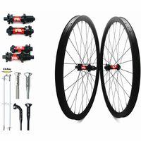 عجلات الدراجة الكربون MTB 29er 30x30mm DT240S DT240S 110x15 148x12 القرص 36T 54T Wheelset Sapim CX Ray Spokes