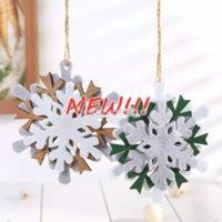 Christmas Ornament Felt Snowflake Pendant DIY Decoration Xmas Tree Hanging Pendants Crafts Free DHL 2022 DD