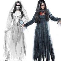 Tema Kostüm Korkunç Cadılar Bayramı Kostümleri Yetişkin Zombi Hemşire Rahibe Kanlı Hayalet Gelin Orta Çağ Kadınlar Fantezi Cosplay L697 P87i