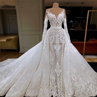 Designer Arabic Elegant Lace Wedding Bride Dresses Saudi Dubai Formal Mermaid Mariage Bridal Gowns African Vestido de noiva 2021