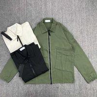 CP Topstoney 2021 Nouvelle chemise de fermeture à glissière détendue Casual Street Travail Weanger Veste pour homme Veste en plein air Sports Windbreaker manteau