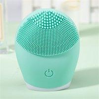 Brosse de nettoyage de visage électrique en silicone ultrasonique Sonic Face Nettoyant nettoyant peau Mini lavage de masseur pinceau rechargeable DDA5386