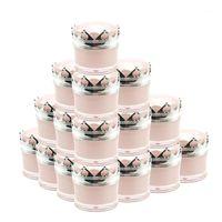 15pcs Empty 5g 10g 15g Acrylic Crown Jar Cosmetics Packaging Jars Pot Makeup Eye Cream Eyeshadow Nail Powder Packing Box Storage Bottles &1