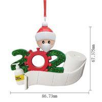 Güzel Noel Oyuncaklar Reçine Karantina Hediyeler Parti Dekorasyon Ürünleri Yaratıcı Kişiselleştirilmiş Ev Salon Önleme Maskeleri