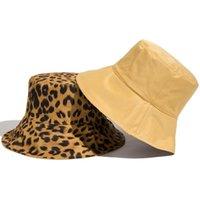 Panamá Para Verão Preto Pescador Praia Homens Mulheres Lado Bonés Proteção Sun Bucket Chapéu Reversível Leopard Senhoras Dois Leo ao ar livre