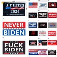 2024 Trump Biden N'EST PAS MON PRÉSIDENT 90 * 150CM US Drapeau des élections présidentielles américaines Polyester Ponsee Matériel Trump Drapeaux Bannières 44 Styles DHL FA15