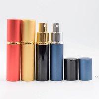 Parfüm Şişesi Düz Kafa Silindir Parfümleri Boş Sprey Tüp Parti Malzemeleri Alüminyum Seyahat Şişeleme 10 ml Deniz HWC7542