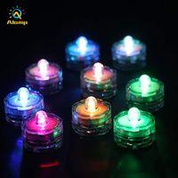 Luz de té LED IP65 Impermeable Floral Redondo Multi Colores Múltiples luces Sumergibles Lámpara de vela Accionada Batería Para Fiesta de Boda Festival Decoración