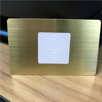 Golden Silver Black Laser Coupe anodisée Système de soie personnalisée 0.8mmmmtempté brossé Métal NFC Card Card Chip Slot Control Accès