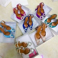 2021 Elbise Ayakkabı Begum Güneş Kristal Toka Şarap Cam Topuk Renkli Elmas Sandalet Parlatıcı Kapak To The Heels Boş Seksi Kadın Ayakkabı Yaz Peri Süslenmiş