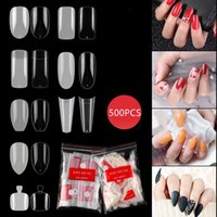 False Nails Nail Piece Tips Curved Straight Manicure Art Tools Artificial Acrylic Fake