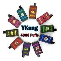 Ykang Box одноразовые VAPES Устройство 4000 Заголовочные сигареты Аккумуляторная батарея 550 мАч батарея 10 мл сетка картриджа с 5% Flavr 10 цветов ELF BAR