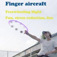 الجملة 100 قطعة / الوحدة الأصلي flynova ufo هفوة اللعب المغازل اليد تحلق سبينر مصغرة الصمام الطائرات صحن ضوء الغزل الضغط هدية