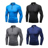 Gym Clothing Men's Compression Top Fast Dry Sweater Thermal Wintergear Fleece Baselayer Long Sleeve Under T Shirts