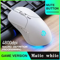 Mice Profession Wired Gaming Mouse 6 Buttons 4800 DPI LED Optical USB Computer For PC Laptop Gamer Mute