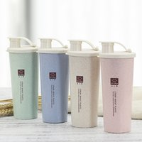 450 مل بروتين مسحوق شاكر زجاجة المياه القمح القمح bpa خلاط الرياضة اللياقة البدنية الحليب يهز زجاجات