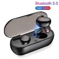 TWS Bluetooth Écouteur -Compatible 5.0 Réduction de bruit stéréo sans fil Stéréo sans fil Casque de casque imperméable avec étui de charge