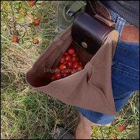 تخزين تنظيم Housekee Home Gardenstorage أكياس قماش حقيبة مع الجلود إيه مشبك طوي أداة الثقيلة الحقيبة dstring للخارجية