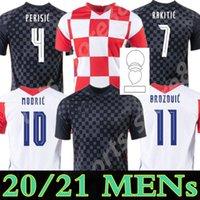 MODRIC 2021 국가 대표팀 맨위치 홈 멀리 크로아티아 축구 유니폼 PERISIC RAKITIC SRNA KOVACIC 축구 셔츠 성인 남성 + 키트 키트