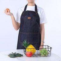 Denim Aprons Kitchen Apron Unisex Woman Men Cooking Restaurant Barista Work Apron Jean Tablier Delantal