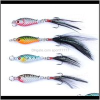 Sports & Outdoors Drop Delivery 2021 Rompin 10Pcs Lures Feather Lead Fish 6G Vib Winter Wobblers Artificial Fishing Tackle With Hooks All Wat